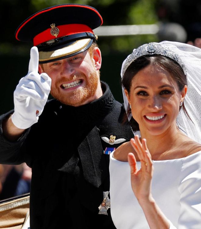 Meghan Markle And Prince Harry Wedding Ceremony St George's Chapel Windsor // Meghan Markle In Claire Waight Keller for Givenchy