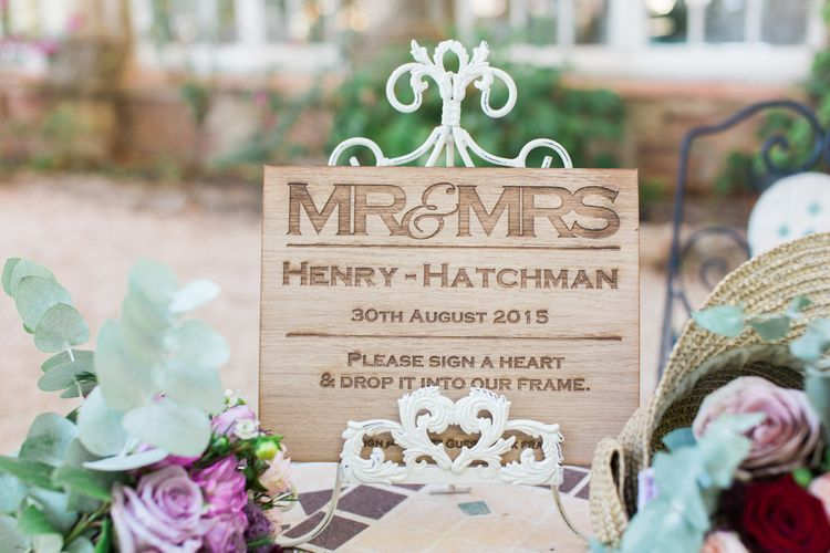 Wooden Plaque Wedding Sign