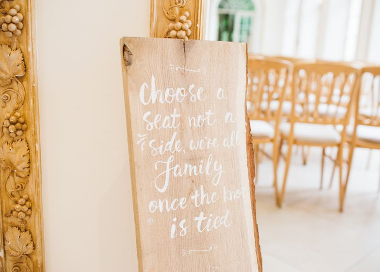 Choose a Seat Wooden Wedding Sign
