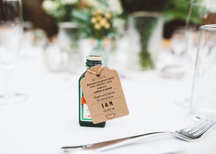 Miniature Jägermeister Wedding Favours