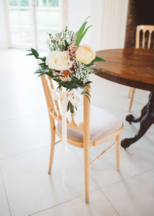 Floral Chair Back Decor