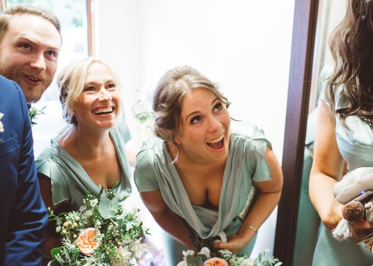 Bridesmaids in Mint Green Ghost Sylvia Bridesmaid Dresses