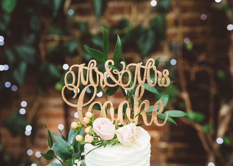 Personalised Wooden Laser Cut Cake Topper