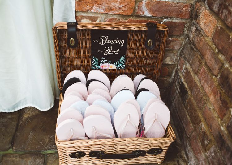 Basket of Flip Flops for Tired Feet