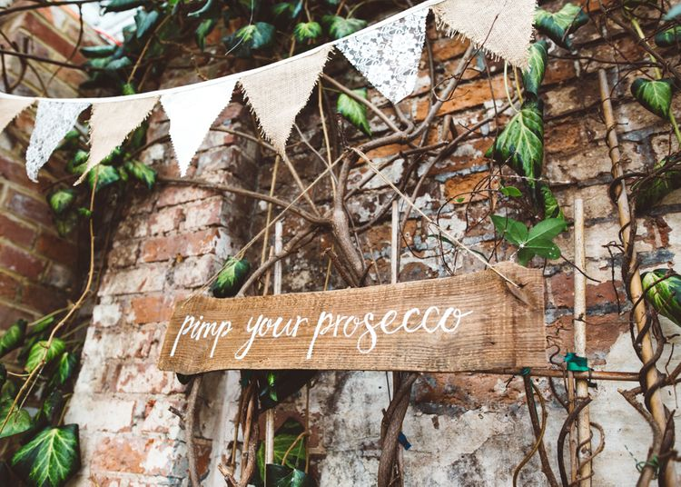 Wooden Pimp Your Prosecco Sign