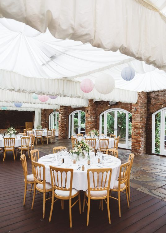 Northbrook Park, Surrey Wedding Reception with Hanging Lanterns