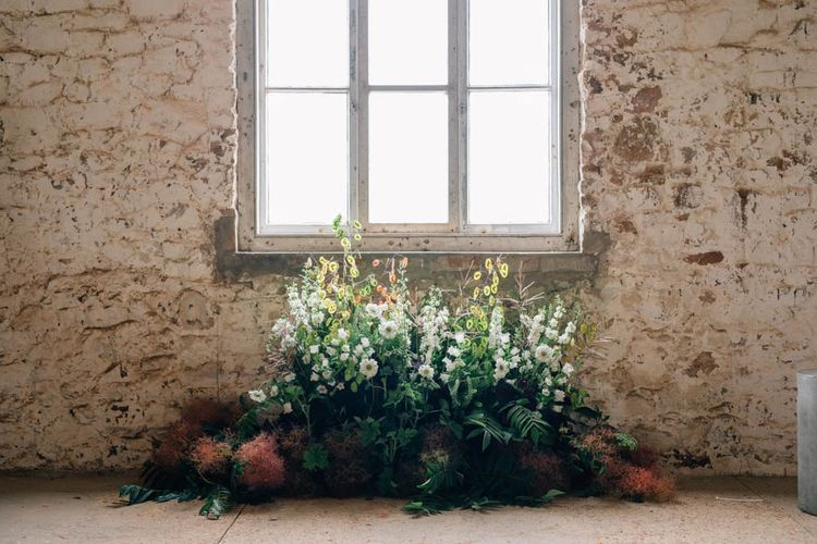 Floral Installation For Wedding // Styled By Cherish
