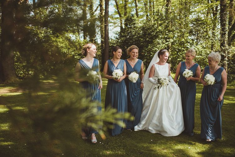 Bridesmaids in Blue Dresses from John Lewis