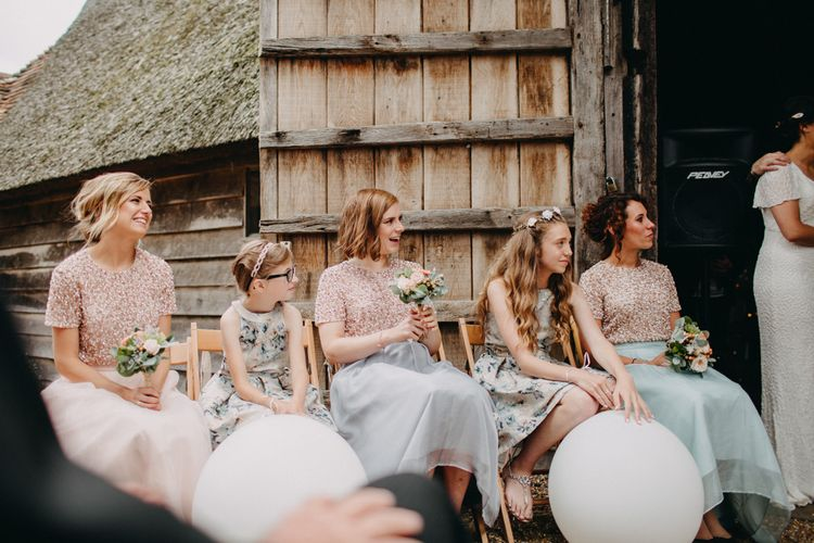 Ratsbury Barn Wedding With Bride In Eliza Jane Howell & Bridesmaids In Coast With Images From Frances Sales Photography
