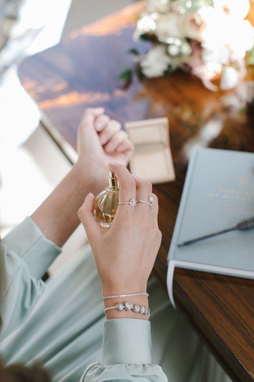 PANDORA charm bracelet and love knot ring