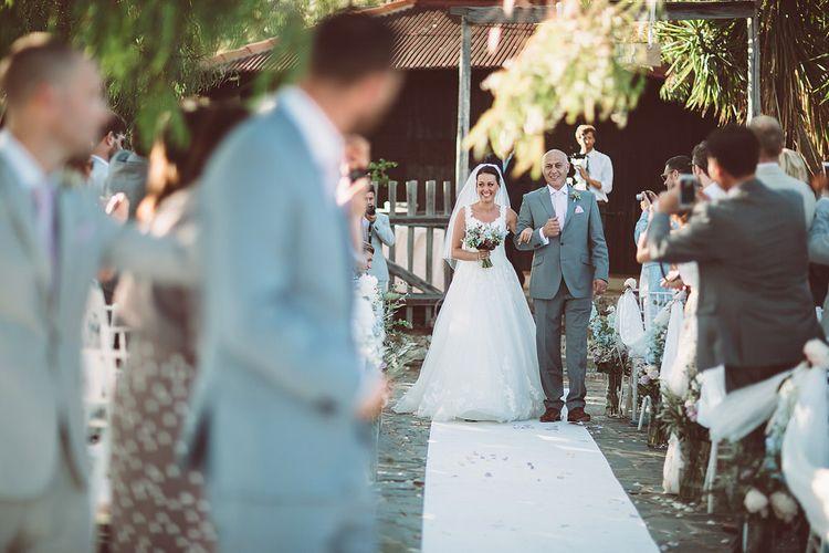 Bridal Entrance in Essense of Australia (D1919) Wedding Dress