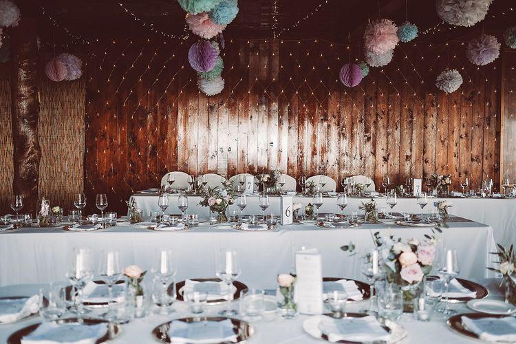 Pastel Wedding Reception Decor