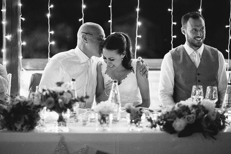 Emotional Bride During Wedding Speeches