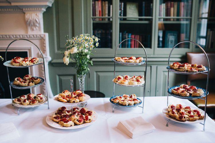 Cream Tea For Wedding Canapes