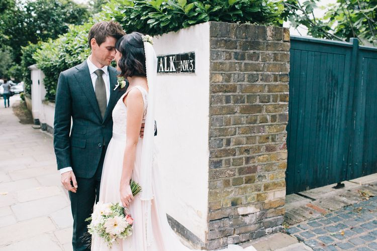 Blush Pink Wedding Dress 'Tamsin' by Catherine Deane
