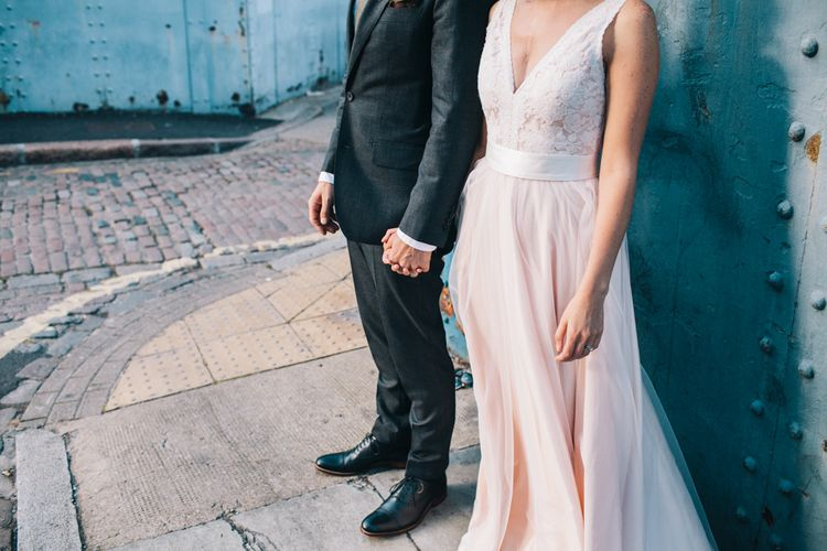 Blush Pink Wedding Dress Tamsin by Catherine Deane