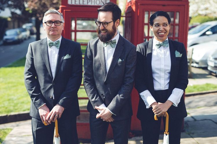 Groomsmen in Grey Suits | Vintage Wedding at Burgh House & The Pickle Factory London | Lovestruck Photography