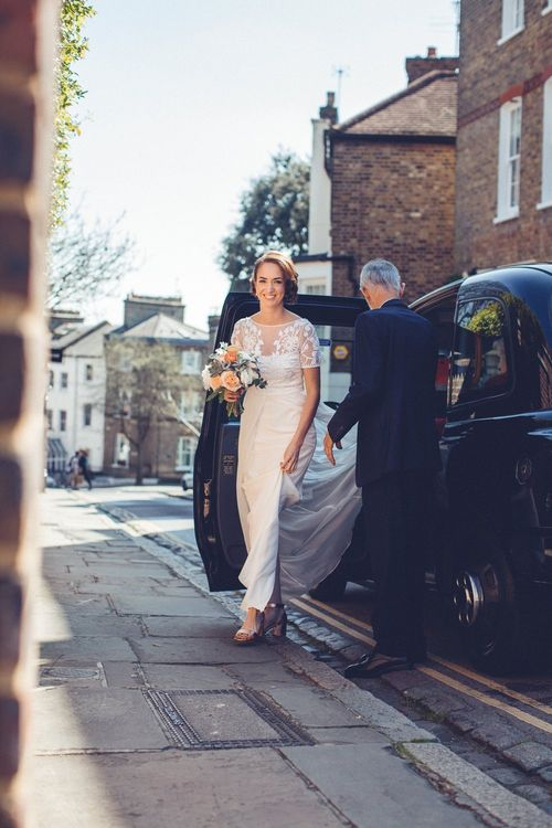 Bride in Alice Temperley Saffron Gown | Vintage Wedding at Burgh House & The Pickle Factory London | Lovestruck Photography