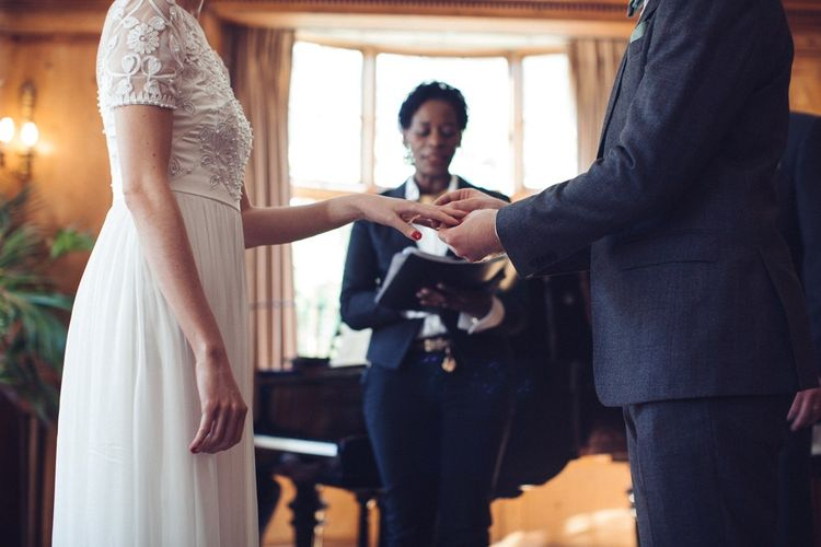 Bride in Alice Temperley Saffron Gown | Groom in Hugo Boss Suit | Vintage Wedding at Burgh House & The Pickle Factory London | Lovestruck Photography
