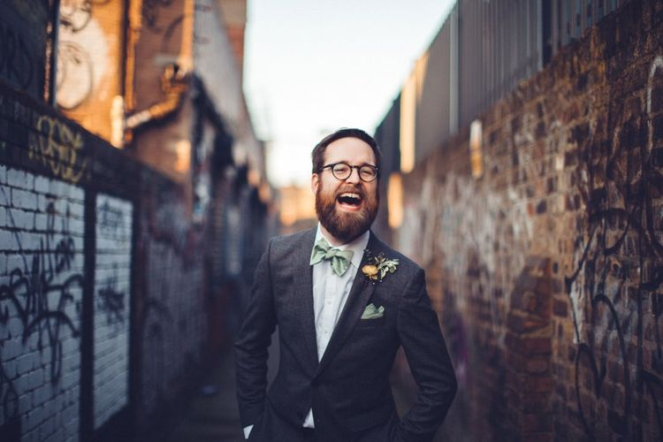 Groom in Hugo Boss Suit | Vintage Wedding at Burgh House & The Pickle Factory London | Lovestruck Photography
