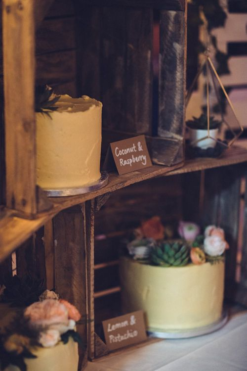 Rustic Crate Cake Table | Vintage Wedding at Burgh House & The Pickle Factory London | Lovestruck Photography