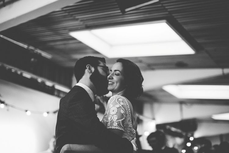 First Dance | Bride in Alice Temperley Saffron Gown | Groom in Hugo Boss Suit | Vintage Wedding at Burgh House & The Pickle Factory London | Lovestruck Photography