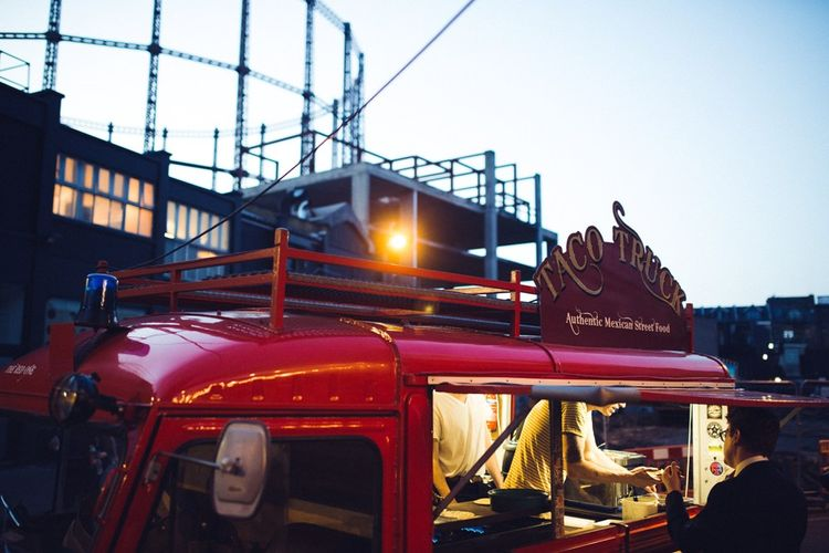 Taco Truck | Vintage Wedding at Burgh House & The Pickle Factory London | Lovestruck Photography