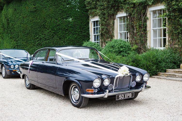 Vintage Wedding Car | Beautiful Classic Wedding at Cornwell Manor | Lucy Davenport Photography