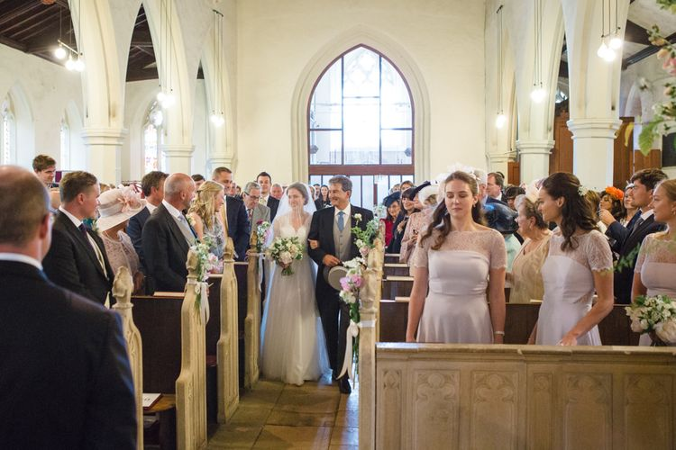 Church Wedding Ceremony | Bride in Ingrida Bridal Gown | Groom in Tails | Beautiful Classic Wedding at Cornwell Manor | Lucy Davenport Photography