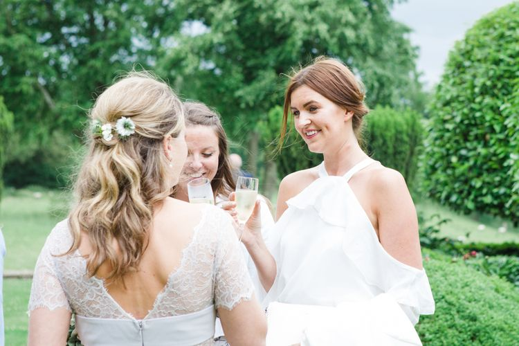 Wedding Guests | Bride in Ingrida Bridal Gown | Beautiful Classic Wedding at Cornwell Manor | Lucy Davenport Photography