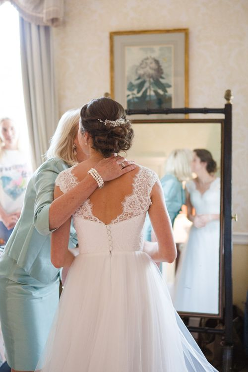 Bride in Ingrida Bridal Gown | Beautiful Classic Wedding at Cornwell Manor | Lucy Davenport Photography