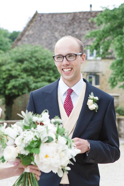 Groom in Traditional Morning Suit | Beautiful Classic Wedding at Cornwell Manor | Lucy Davenport Photography