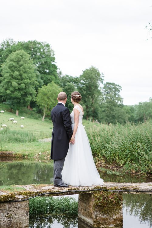 Bride in Ingrida Bridal Gown | Groom in Tails | Beautiful Classic Wedding at Cornwell Manor | Lucy Davenport Photography