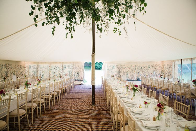 Marquee Reception | Beautiful Classic Wedding at Cornwell Manor | Lucy Davenport Photography