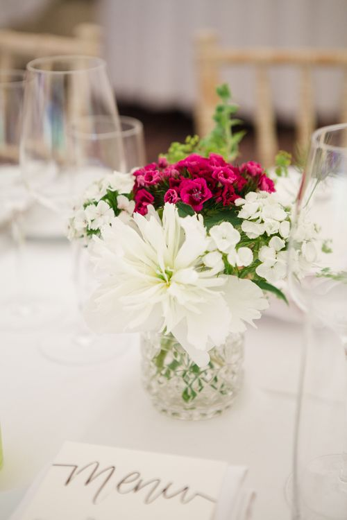 Flower Stems in Jars | Beautiful Classic Wedding at Cornwell Manor | Lucy Davenport Photography