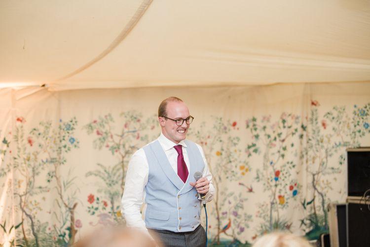 Groom Speech | Beautiful Classic Wedding at Cornwell Manor | Lucy Davenport Photography