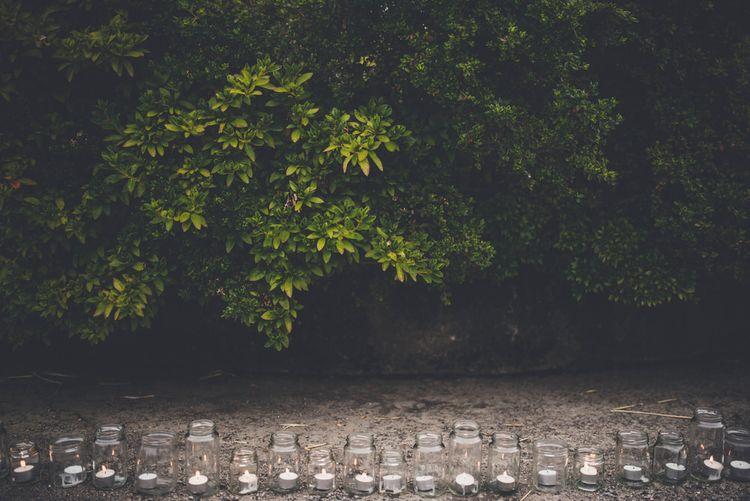 Tea Lights in Jam Jars