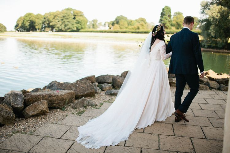 Bride in Naomi Neoh Gown | Groom in Hackett Suit | Natalie Hewitt Planned Wedding at Normanton Church & Kingsthorpe Lodge Barn | Jeni Smith Photography | Blue Ridge Wedding Videography