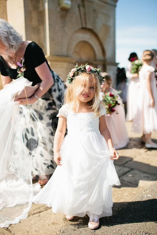 Flower Girl | Natalie Hewitt Planned Wedding at Normanton Church & Kingsthorpe Lodge Barn | Jeni Smith Photography | Blue Ridge Wedding Videography