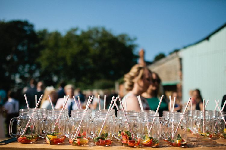 Pimms Drinks Reception | Natalie Hewitt Planned Wedding at Normanton Church & Kingsthorpe Lodge Barn | Jeni Smith Photography | Blue Ridge Wedding Videography