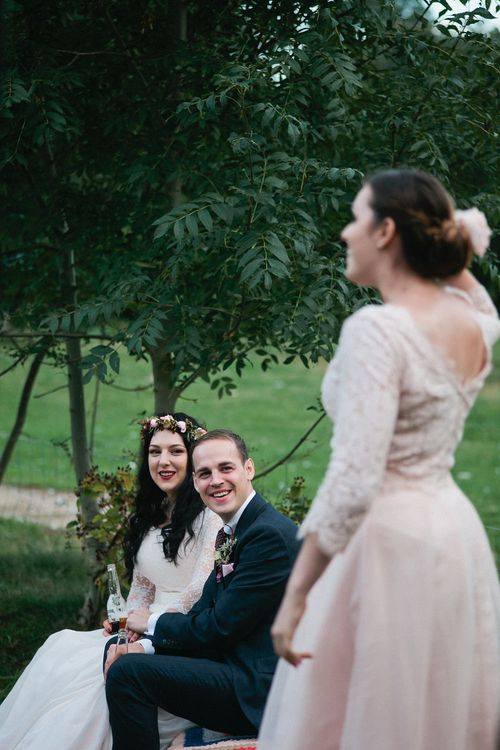 Boho Bride in Naomi Neoh Gown | Groom in Hackett Suit | Natalie Hewitt Planned Wedding at Normanton Church & Kingsthorpe Lodge Barn | Jeni Smith Photography | Blue Ridge Wedding Videography