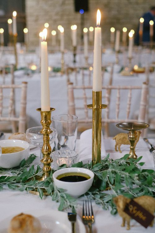 Candle Sticks Wedding Decor | Natalie Hewitt Planned Wedding at Normanton Church & Kingsthorpe Lodge Barn | Jeni Smith Photography | Blue Ridge Wedding Videography