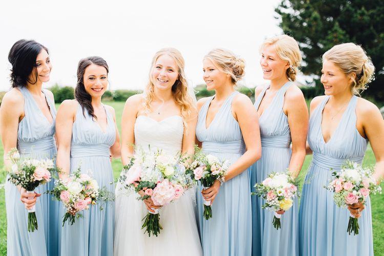 Bridesmaids in Pale Blue ASOS Dresses