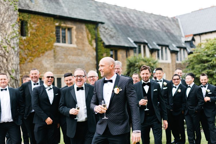 Black Tie Wedding | Outdoor Blush Flower Filled Wedding at Pennyhill Park, Surrey Planned by Something Blue Weddings | Anushe Low Photography | Reel Weddings Film