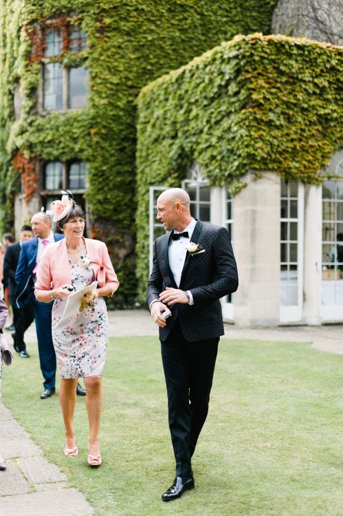 Groom in Dolce & Gabbana Suit | Outdoor Blush Flower Filled Wedding at Pennyhill Park, Surrey Planned by Something Blue Weddings | Anushe Low Photography | Reel Weddings Film