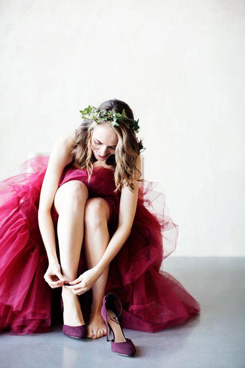 Pink Wedding Dress by Ailsa Munro Pink Wedding Dress by Ailsa Munro