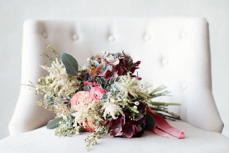 Berry Toned Wedding Bouquet
