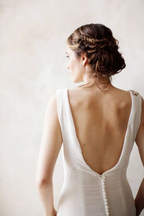 Twisted Plaited Wedding Updo For Bride