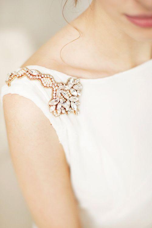Embellished Shoulder Detail Ailsa Munro Wedding Dress