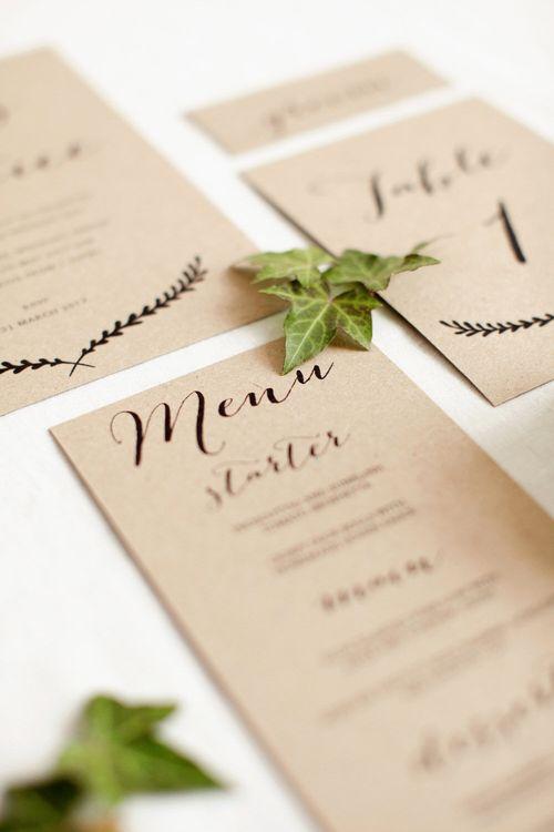Rustic Minimal Wedding Stationery